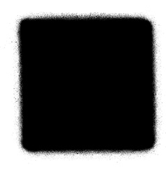 Stop media graffiti spray icon in black over white vector