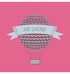Zentangle air baloon Air safari vector image