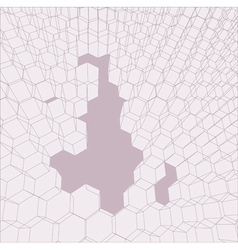 3d honey comb vector image