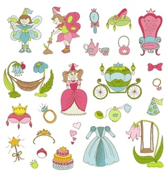 Princess Girl Set vector image