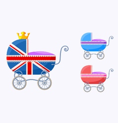 English baby carriages vector