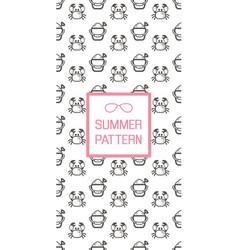 Summer seamless pattern beach vector