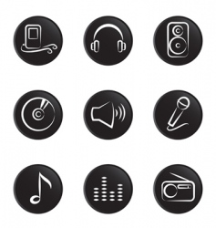 music object vector image
