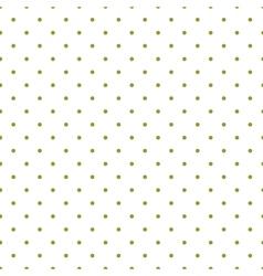 Tile pattern green polka dots white background vector image