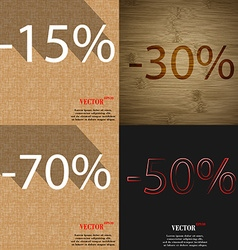 30 70 50 icon set of percent discount on abstract vector
