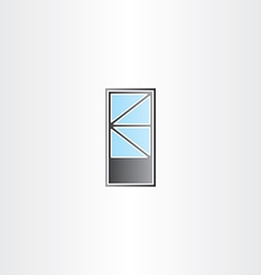 Door with triangle window vector