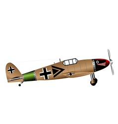 German ww2 fighter on white vector