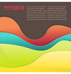 Abstract colorful light background forms a smooth vector image vector image