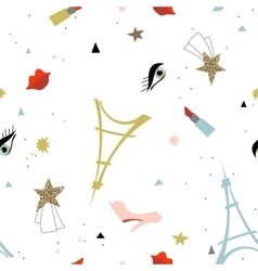 Abstract Paris fashion seamless pattern vector image vector image