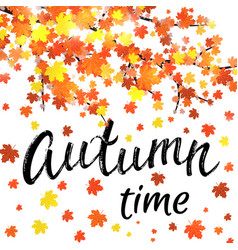 autumn time banner seasonal fall poster vector image
