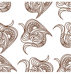 black and white ethnic lines seamless pattern vector image