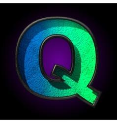 blue plastic figure q vector image