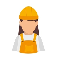 Builder construction worker women vector