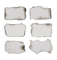 burnt papers vector image vector image