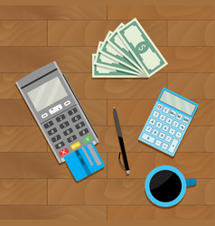 Calculate and pay vector
