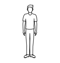 character man male portrait people vector image
