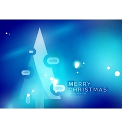 Christmas blue abstract background with white vector image vector image