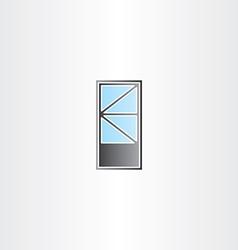 door with triangle window vector image vector image