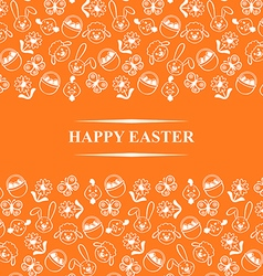 easter muzzle card orange vector image vector image