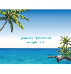 Exotic island paradise beach vector