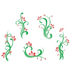 floral and flowers vector image vector image