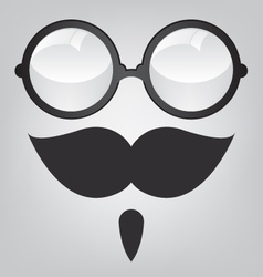 Funny mask retro sunglasses and mustache vector image