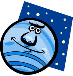 Funny neptune planet cartoon vector