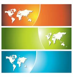 global banners vector image vector image