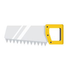 hand saw flat icon build and repair handsaw sign vector image