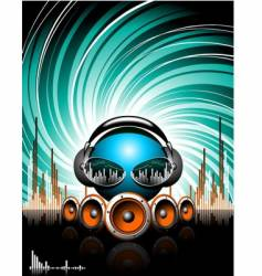 illustration for a musical theme vector image vector image