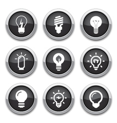 Light bulb buttons vector