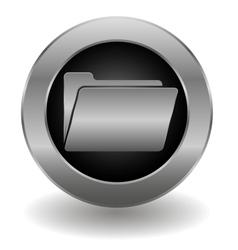 Metallic folder button vector image