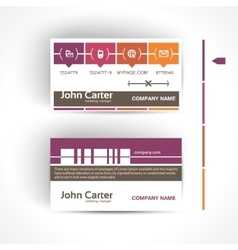 Modern and simple light business card template in vector image