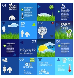 Modern blue ecology template design vector