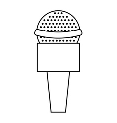 news microphone isolated icon design vector image