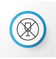 No drinking icon symbol premium quality isolated vector