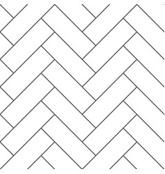 outline vintage wooden floor herringbone parquet vector image vector image