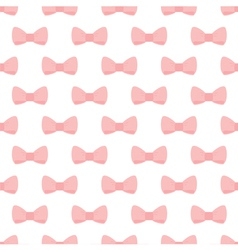 Pink bows on white background seamless pattern vector