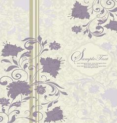 purple and gray invitation card vector image vector image