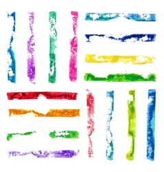 rectangular paint stamps vector image vector image