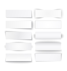 Set of white paper banners vector image