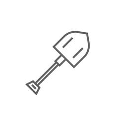 Shovel line icon vector image vector image