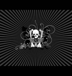 skulls wallpaper vector image vector image