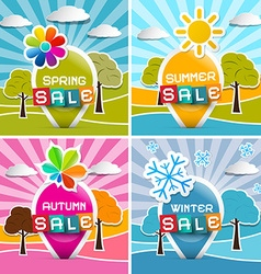 Spring - Summer - Autumn - Winter Sale Four vector image vector image