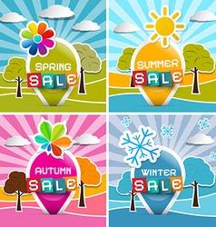 Spring - summer - autumn - winter sale four vector