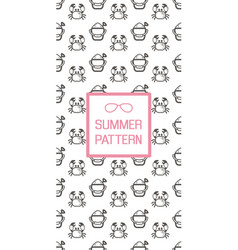 Summer seamless pattern beach vector
