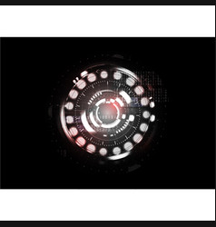 technological abstract red light interface vector image