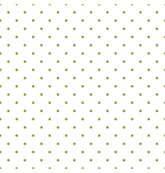 Tile pattern green polka dots white background vector image vector image