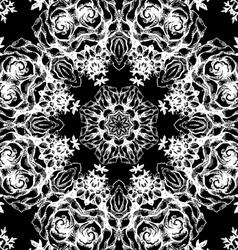 Vintage decorative lace round pattern vector