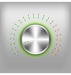 Volume button neon green vector
